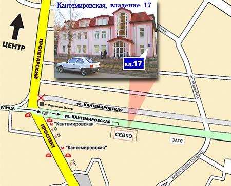 на Кантемировской ул.